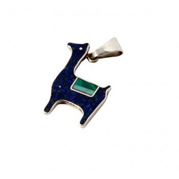 colgante - figura -ag piedras - 0051mg